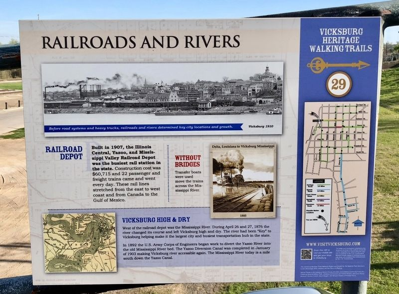 Railroads and Rivers Marker image. Click for full size.