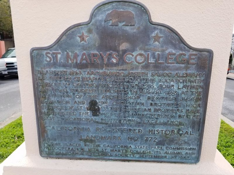 St. Mary's College Marker image. Click for full size.