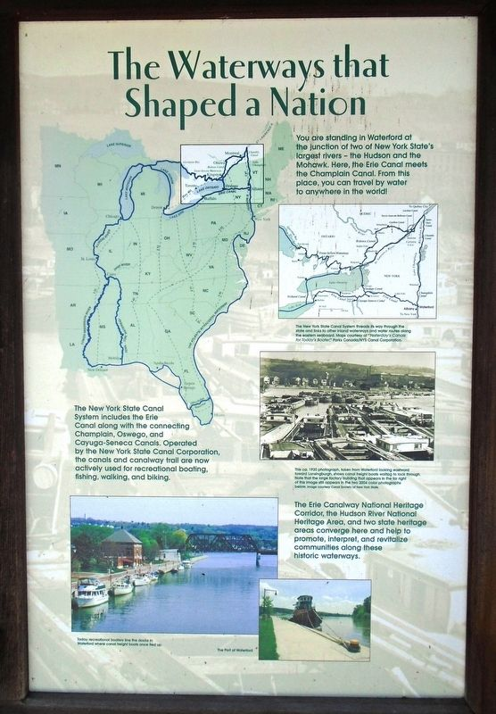 The Waterways that Shaped a Nation Marker image. Click for full size.
