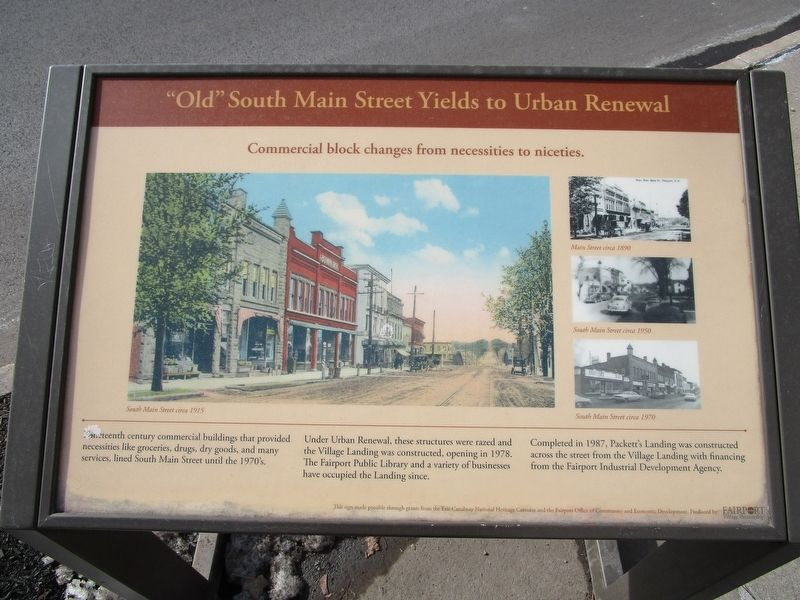 """Old"" South Main Street Yields to Urban Renewal Marker image. Click for full size."