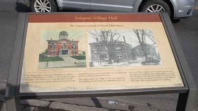 Fairport Village Hall Marker image. Click for full size.