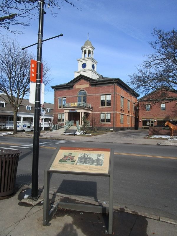 Fairport Village Hall & Marker image. Click for full size.