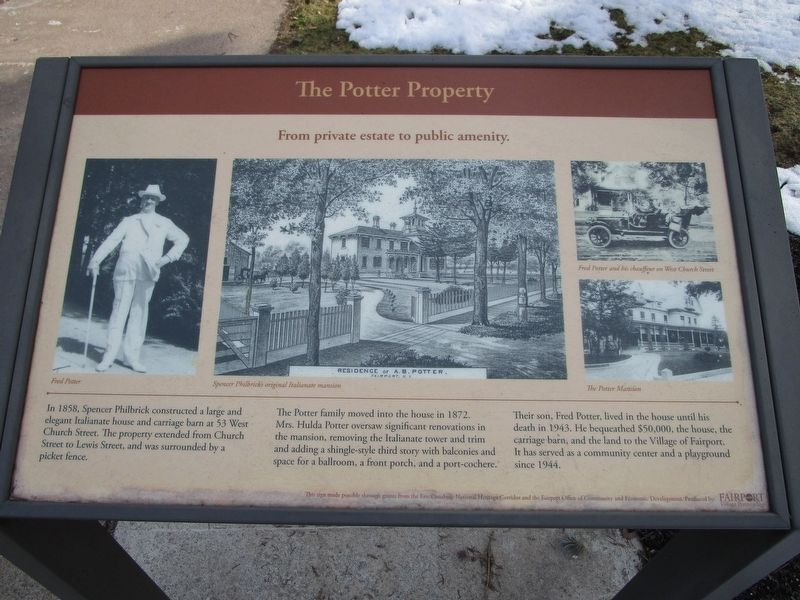 The Potter Property Marker image. Click for full size.