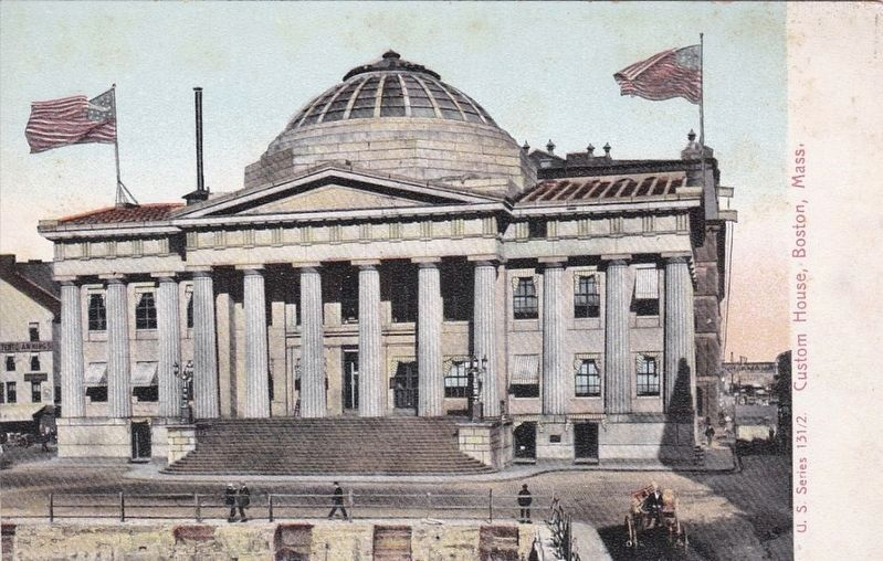 <i>Custom House, Boston, Mass.</i> - prior to the addition of the tower image. Click for full size.