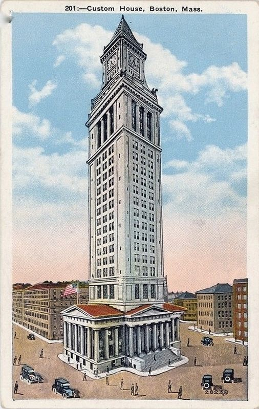 <i>Custom House, Boston, Mass.</i> - after the addition of the tower image. Click for full size.