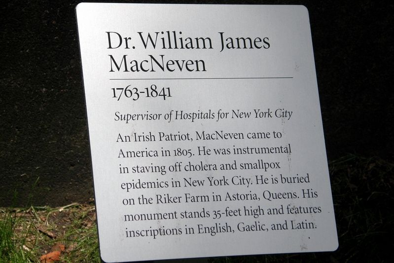 Dr. William James MacNeven Marker image. Click for full size.