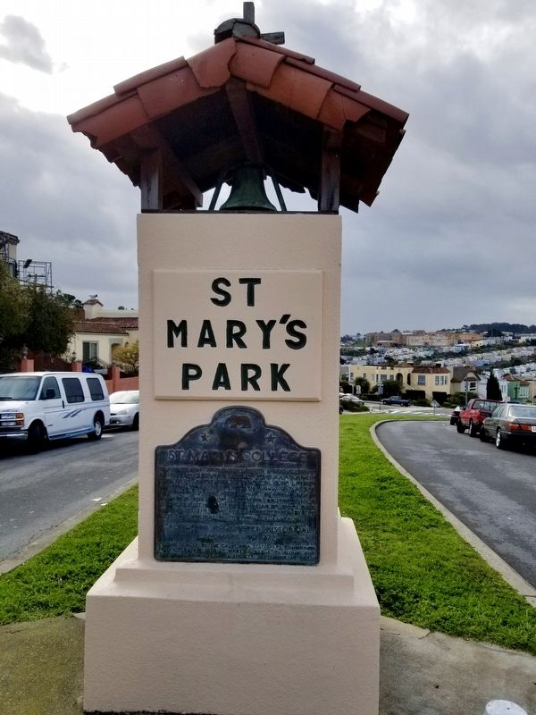 St. Mary's College Marker - Wide View image. Click for full size.
