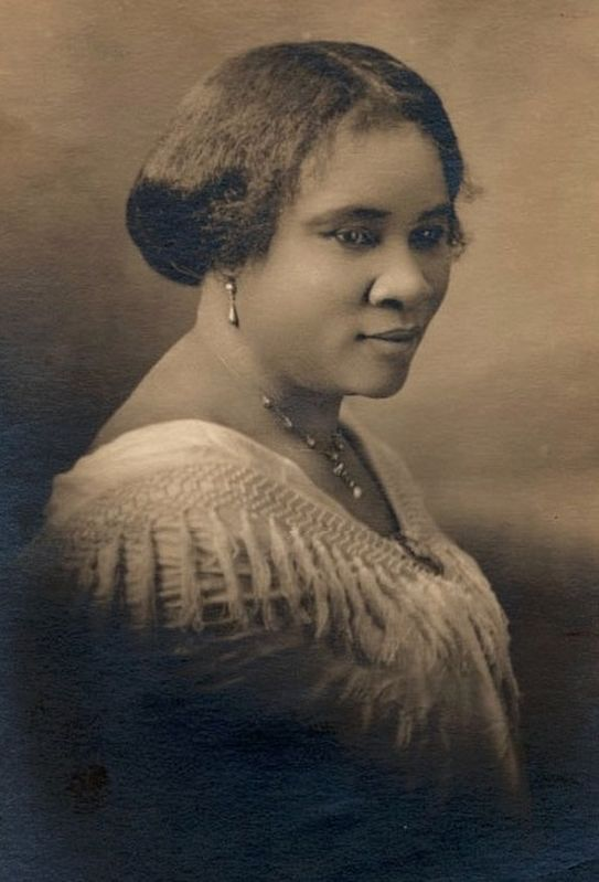 Madam C.J. Walker, the first self-made U.S. woman millionaire of any race. image. Click for full size.