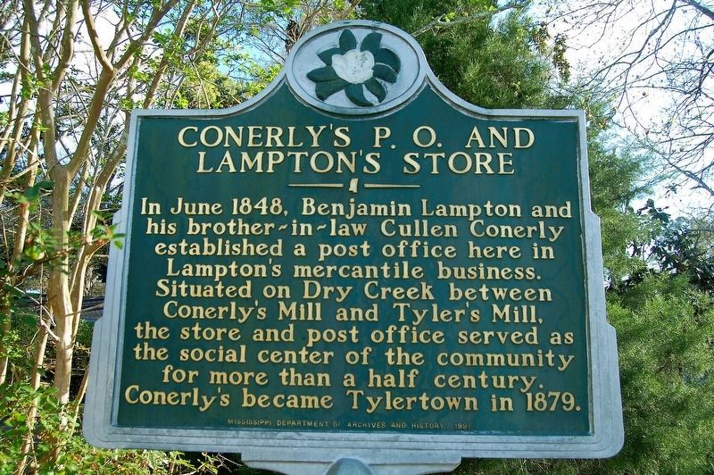 Conerly's P.O. and Lampton's Store Marker image. Click for full size.