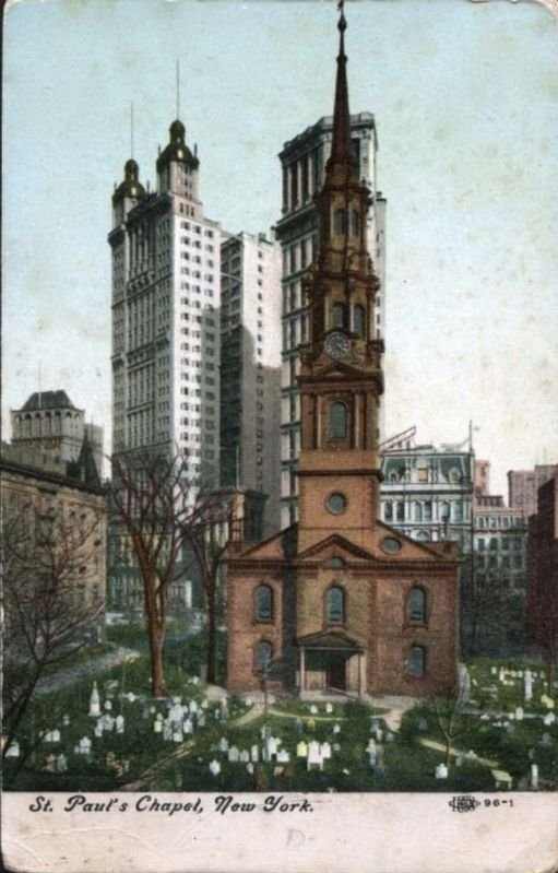 <i>St. Paul&#39;s Chapel, New York</i> image. Click for full size.