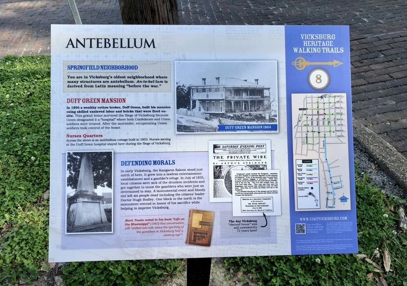 Antebellum Marker image. Click for full size.