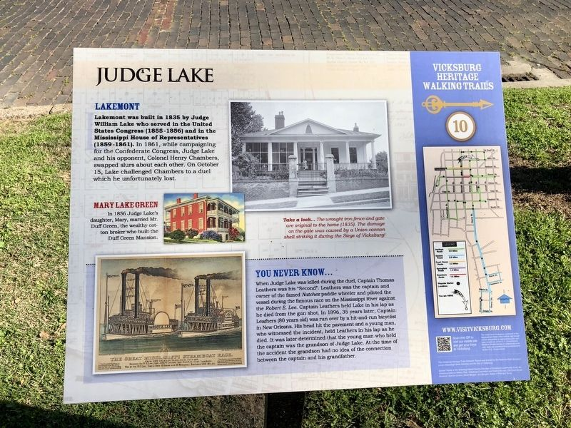 Judge Lake Marker image. Click for full size.