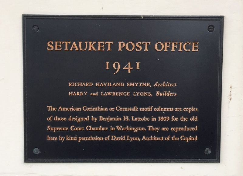 Setauket Post Office Marker image. Click for full size.