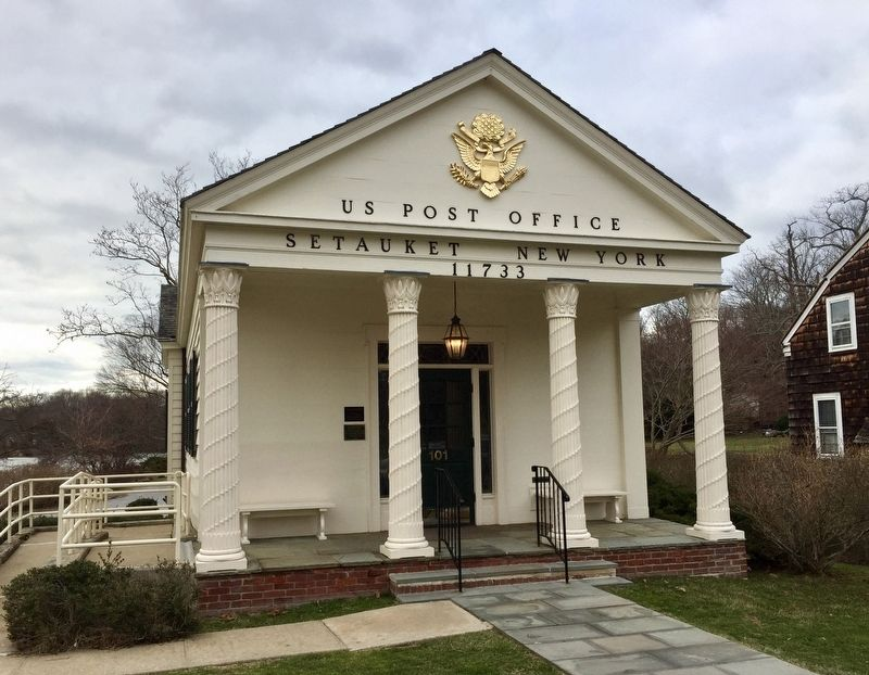Setauket Post Office and Marker - Wide View image. Click for full size.