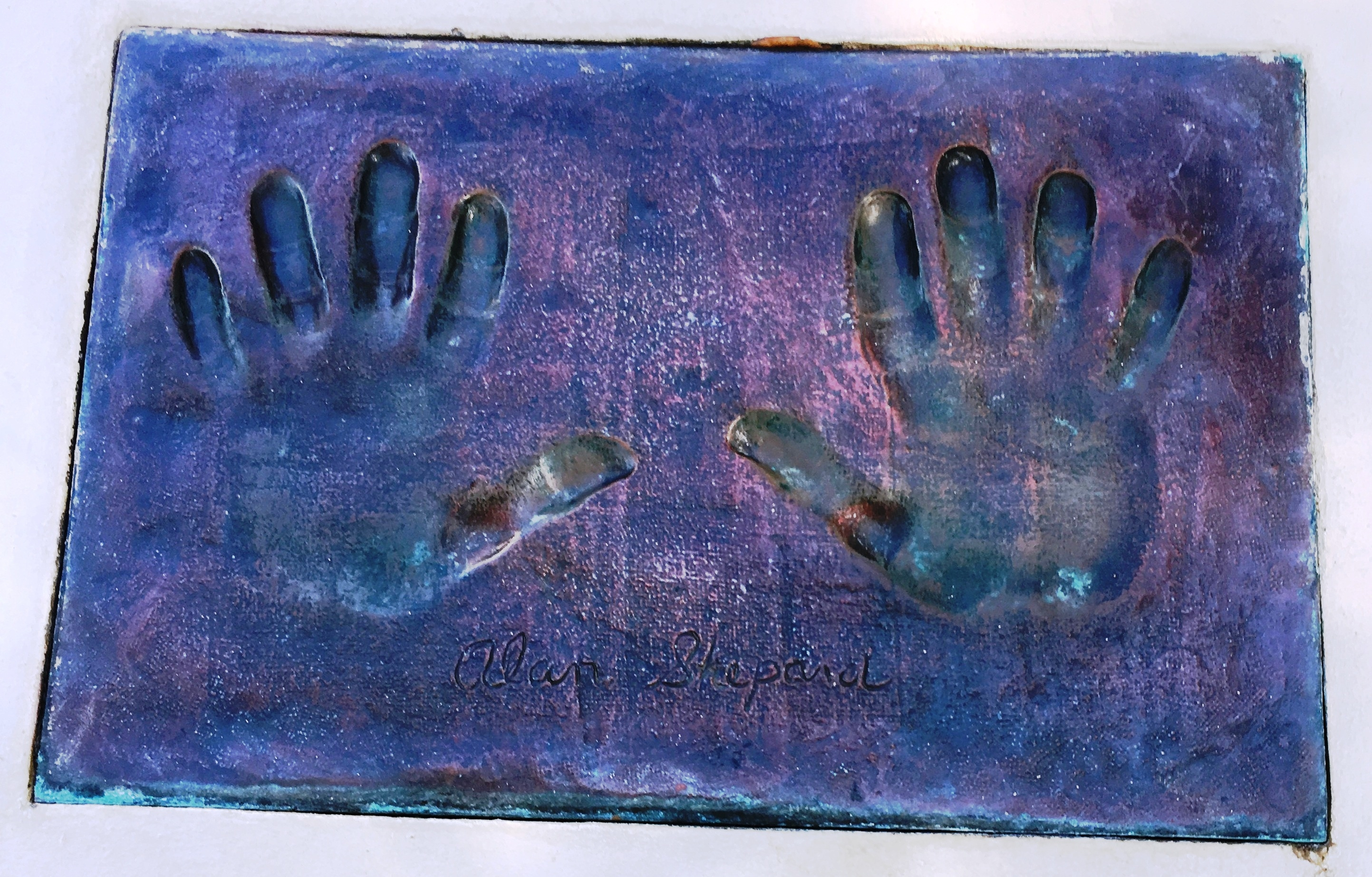Alan B. Shepard Handprints marker