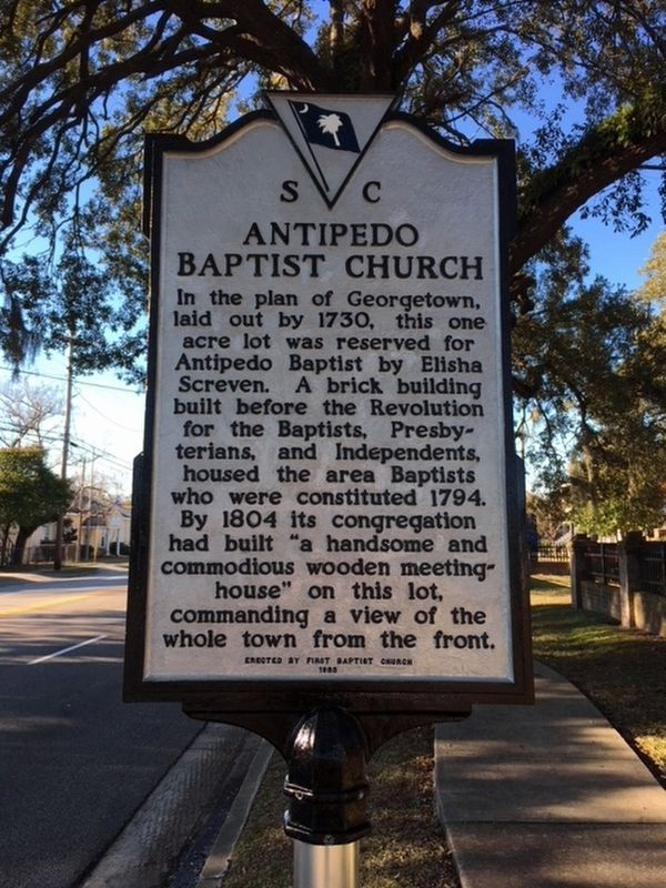 Antipedo Baptist Church / Old Baptist Cemetery Marker image. Click for full size.
