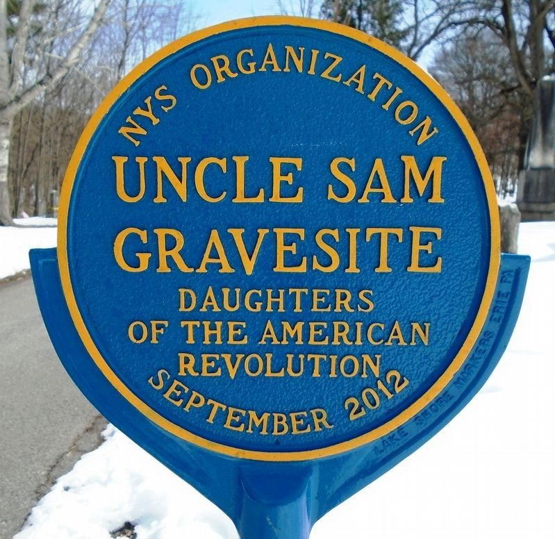 Uncle Sam Gravesite Marker image. Click for full size.