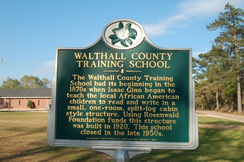 Walthall County Training School Marker image. Click for full size.