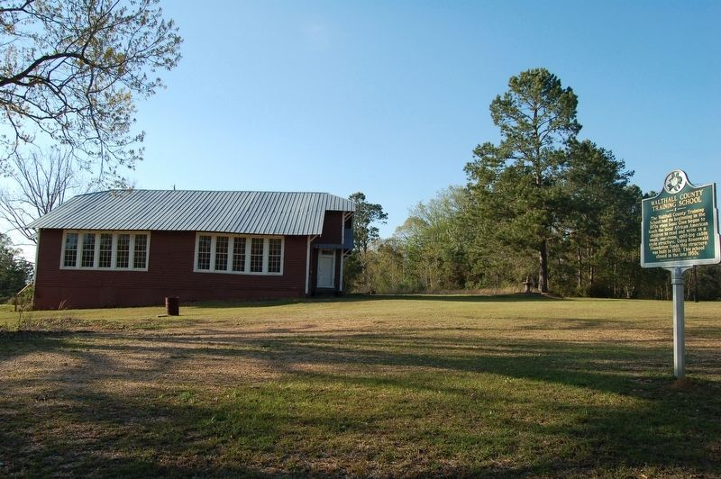 Walthall County Training School and Marker image. Click for full size.
