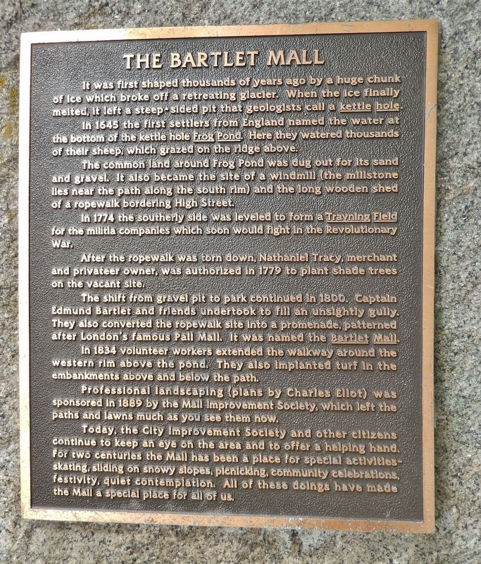 The Bartlet Mall Marker image. Click for full size.