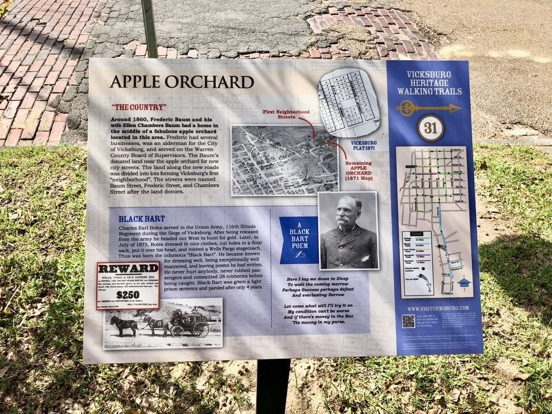 Apple Orchard Marker image. Click for full size.