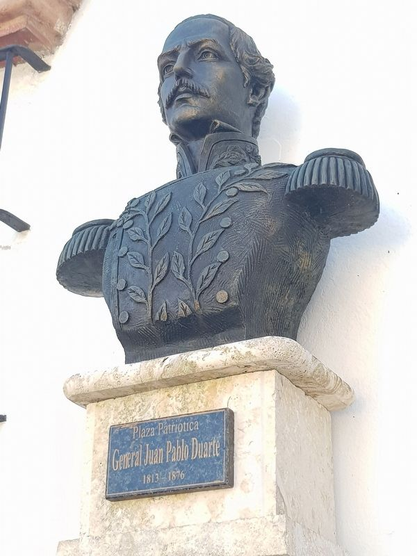 A bust of Juan Pablo Duarte at The Atarazanas School image. Click for full size.