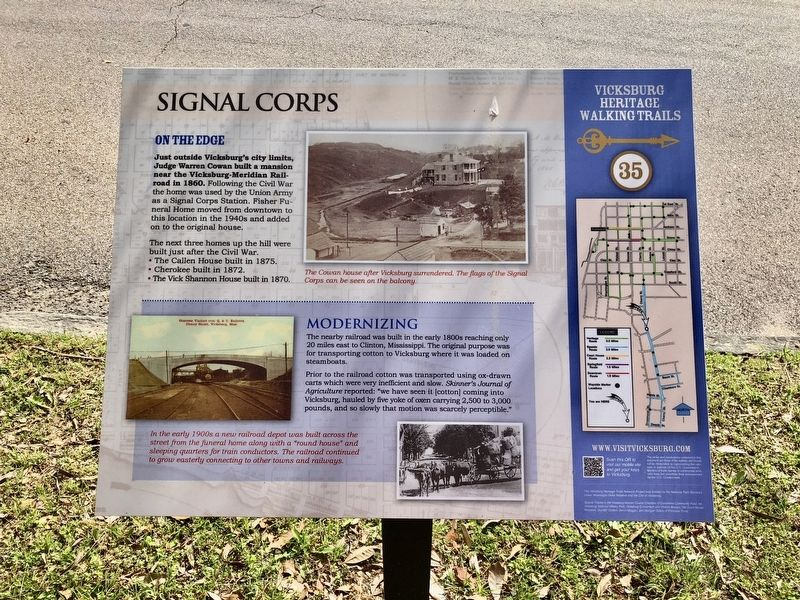 Signal Corps Marker image. Click for full size.