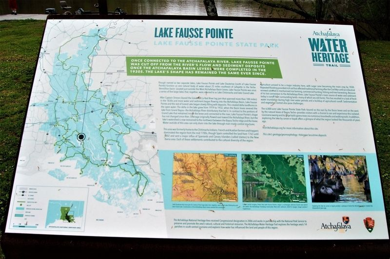 Lake Fausse Point Marker image. Click for full size.