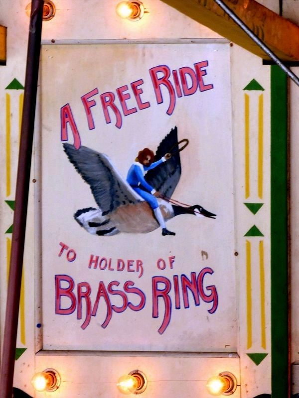 A Free Ride<br>To Holder of<br>Brass Ring image. Click for full size.