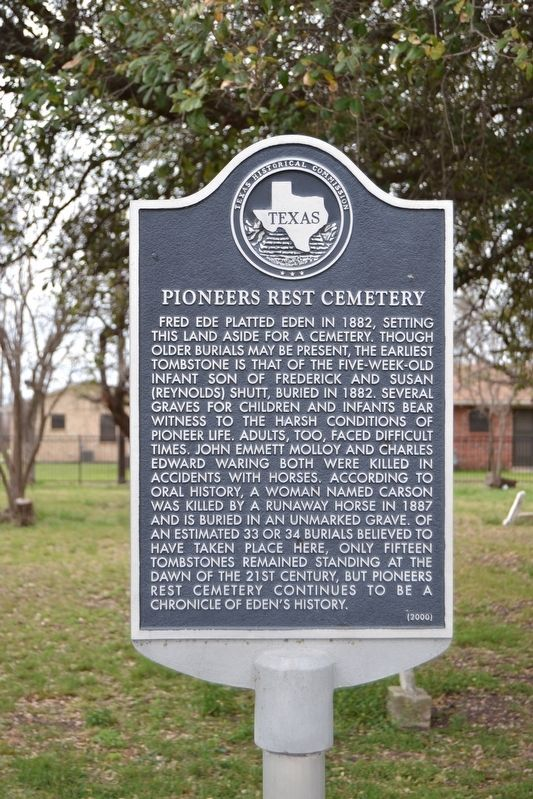 Pioneers Rest Cemetery Marker image. Click for full size.