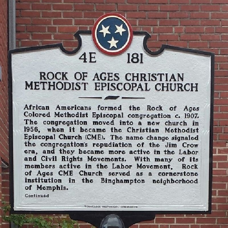 4E - 181 Rock of Ages Christian Methodist Episcopal Church image. Click for full size.