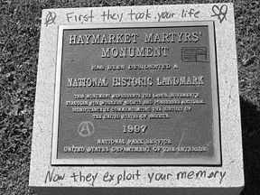 Haymarket Martyrs' Monument Marker image. Click for full size.