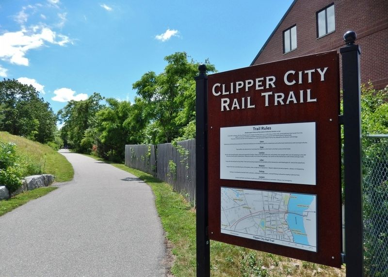 Clipper City Rail Trail Sign (<i>near marker</i>) image. Click for full size.