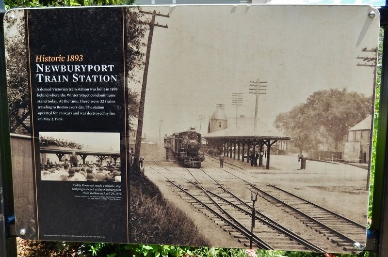 Historic 1893 Newburyport Train Station Marker image. Click for full size.