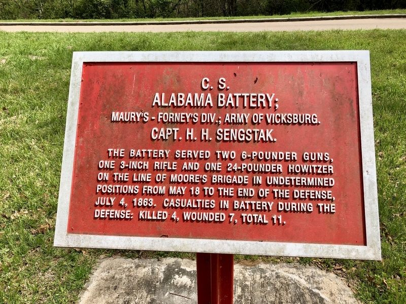 <small>C.S.</small> Alabama Battery; Marker image. Click for full size.