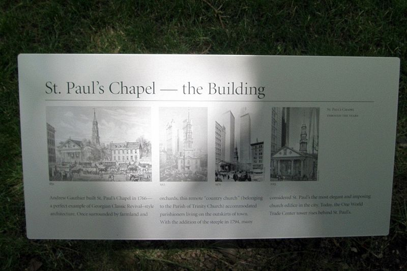 St. Paul's Chapel - the Building Marker image. Click for full size.