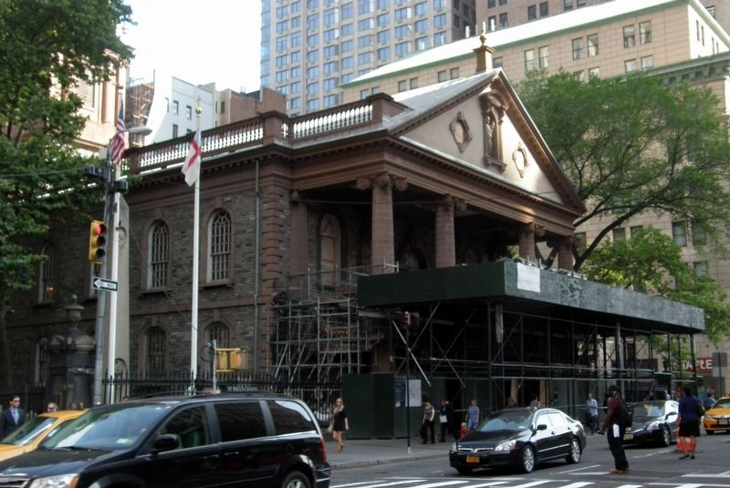 St. Paul's Chapel under renovation image. Click for full size.