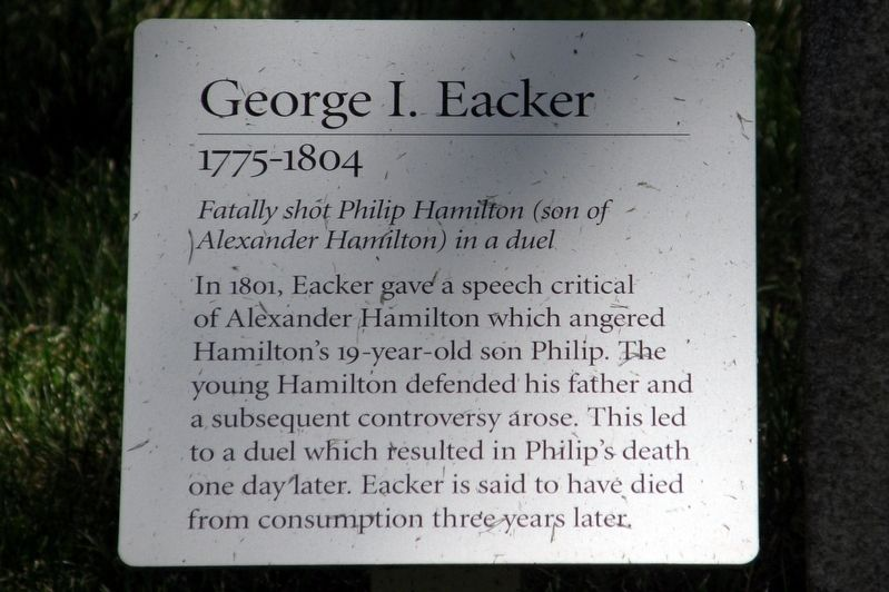 George I. Eacker Marker image. Click for full size.