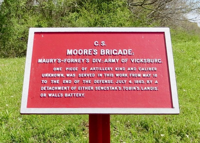 <small>C.S.</small> Moore&#39;s Brigade Marker image. Click for full size.