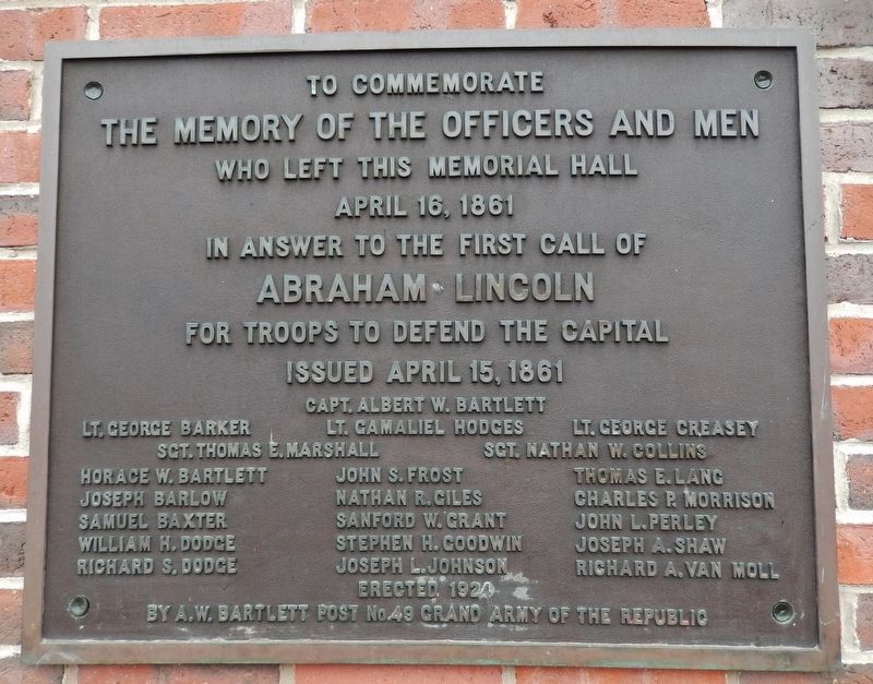 The Memory of the Officers and Men Marker image. Click for full size.