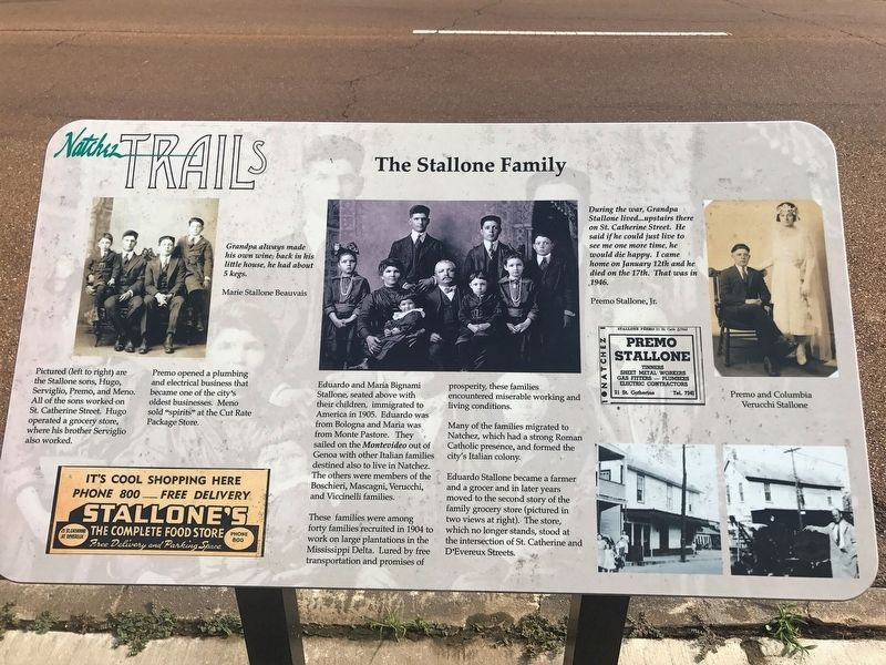 The Stallone Family Marker image. Click for full size.