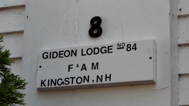 Gideon Lodge #84, F. & A. M. image. Click for full size.