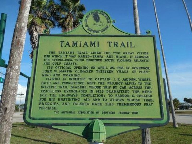 Tamiami Trail Marker image. Click for full size.
