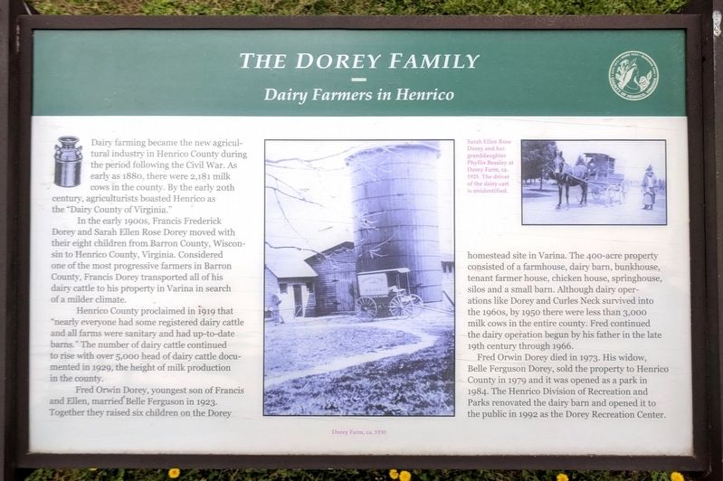 The Dorey Family Marker image. Click for full size.