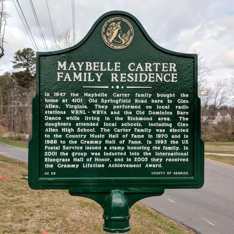 Maybelle Carter Family Residence Marker image. Click for full size.