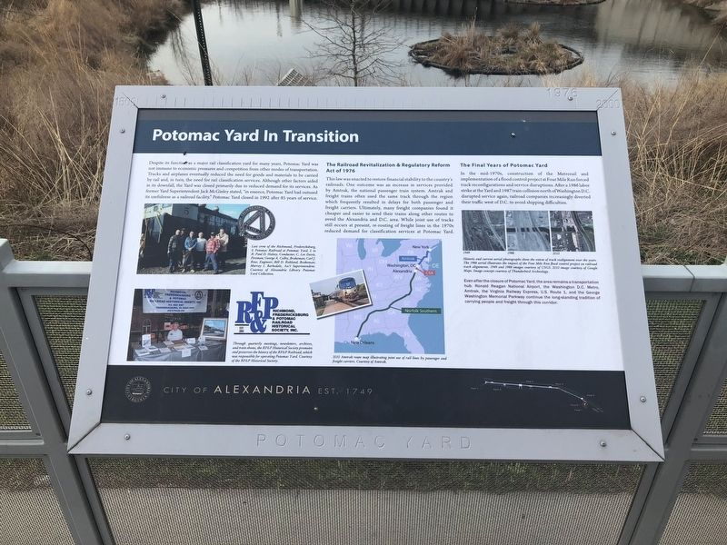 Potomac Yard in Transition Marker image. Click for full size.