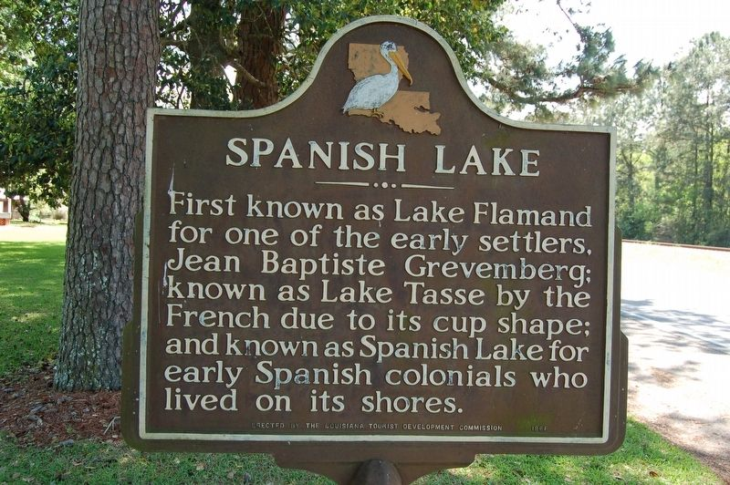 Spanish Lake Marker image. Click for full size.