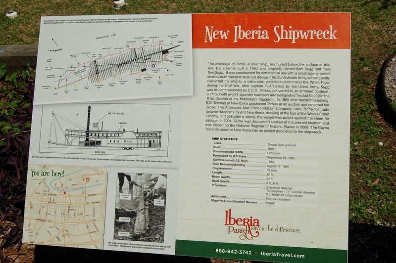 New Iberia Shipwreck Marker image. Click for full size.
