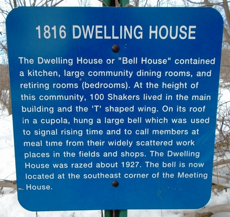 1816 Dwelling House Marker image. Click for full size.