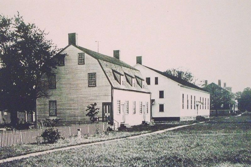 1791 and 1848 Shaker Meeting Houses image. Click for full size.